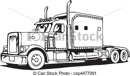 Culering Shets Of 18 Wheelers Graphics Drawin With Images