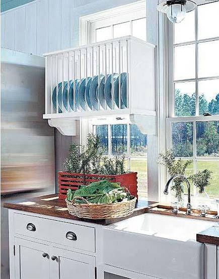 Dish rack plate racks kitchen storage counter cabinet shelf Tiny