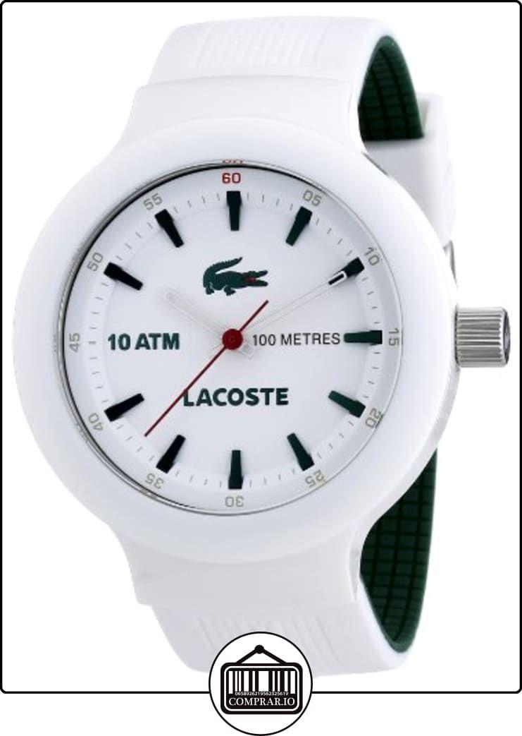 6843d7224ba6 Lacoste 2010661 - Reloj analógico de cuarzo para hombre con correa de  silicona