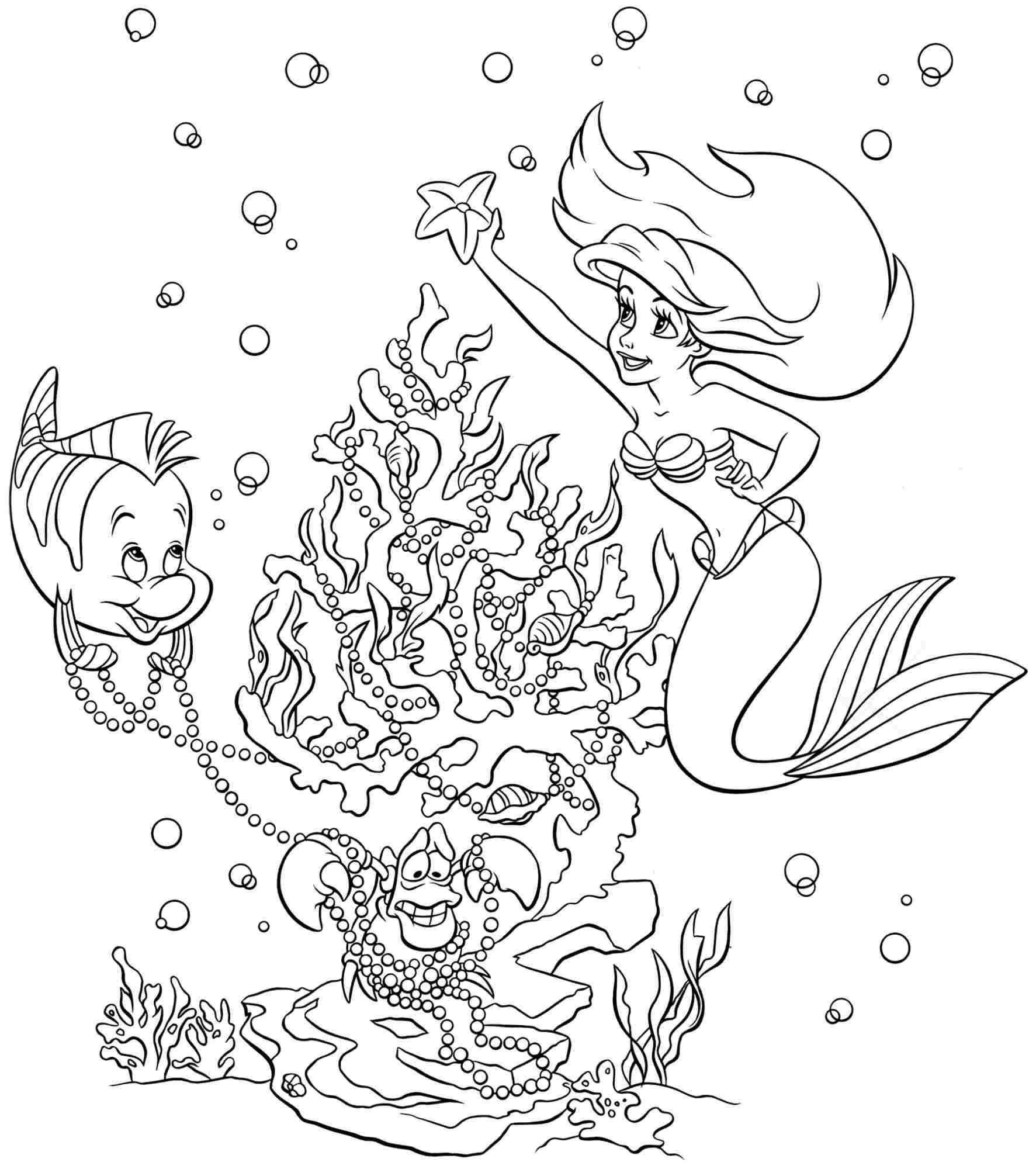 little-mermaid-ariel-colouring-pages-printable-for-kids-easy-free ...