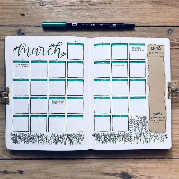 na Instagramie My March monthly overview I must admit that I regret that I used the bluegreen tombow even though it goes really well with my monthlyNina na Instagramie My...