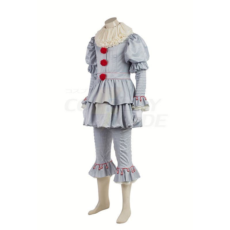 Official Licensed Deluxe 2017 Pennywise IT Clown Fancy Dress Costume Halloween