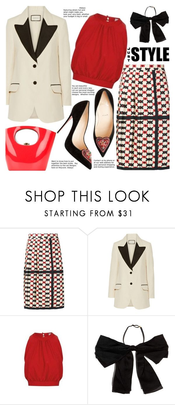 """Style"" by gabrilungu ❤ liked on Polyvore featuring Marc Jacobs, Gucci, Topshop, Yves Saint Laurent and Rocio"