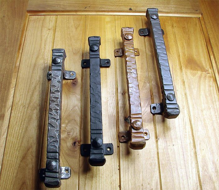 """Rustic Barn Door Pull Handles: Bridge Door Pull, Jumbo 14"""" Size"""
