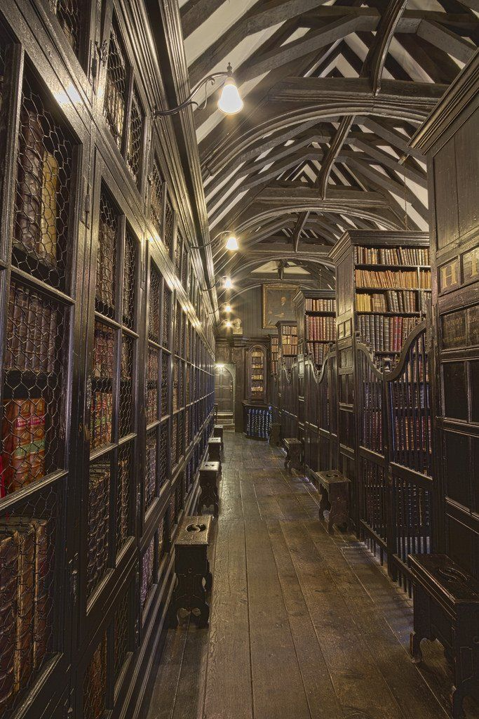 Chethams Library, England [3454x5182] RoomPorn Old