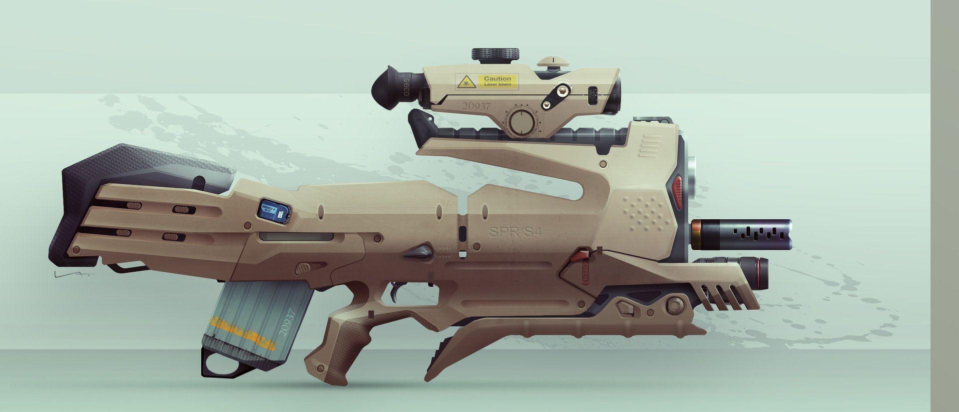 ArtStation - Assault Rifle, Ivan Tantsiura