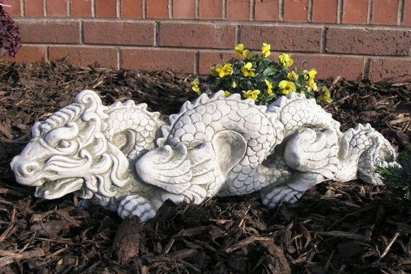 Oriental Concrete Dragon Statue Statues Stone Garden 400 x 300