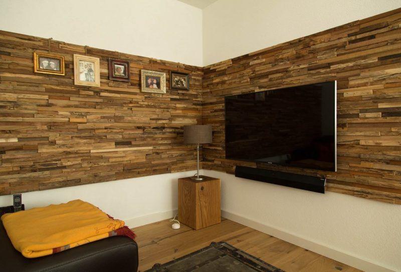 Tv Holz Wandverkleidung Wanddesign Ideen Wood Wallpaper Wood