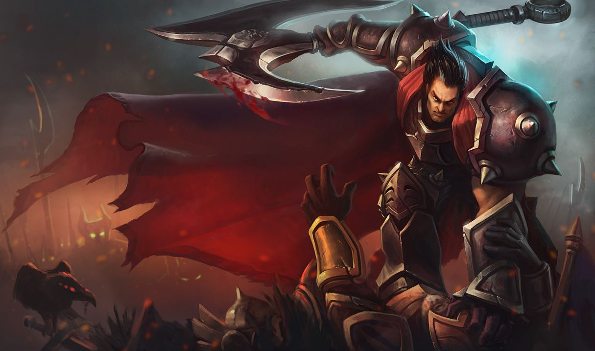 Darius | League of Legends There is no greater symbol of Noxian might than Darius, the nation's most feared and battle-hardened warrior. Orphaned at a young age, Darius had to fight to keep himself and his younger brother alive. By the time he joined the military, he had already developed the strength and discipline of a veteran soldier.