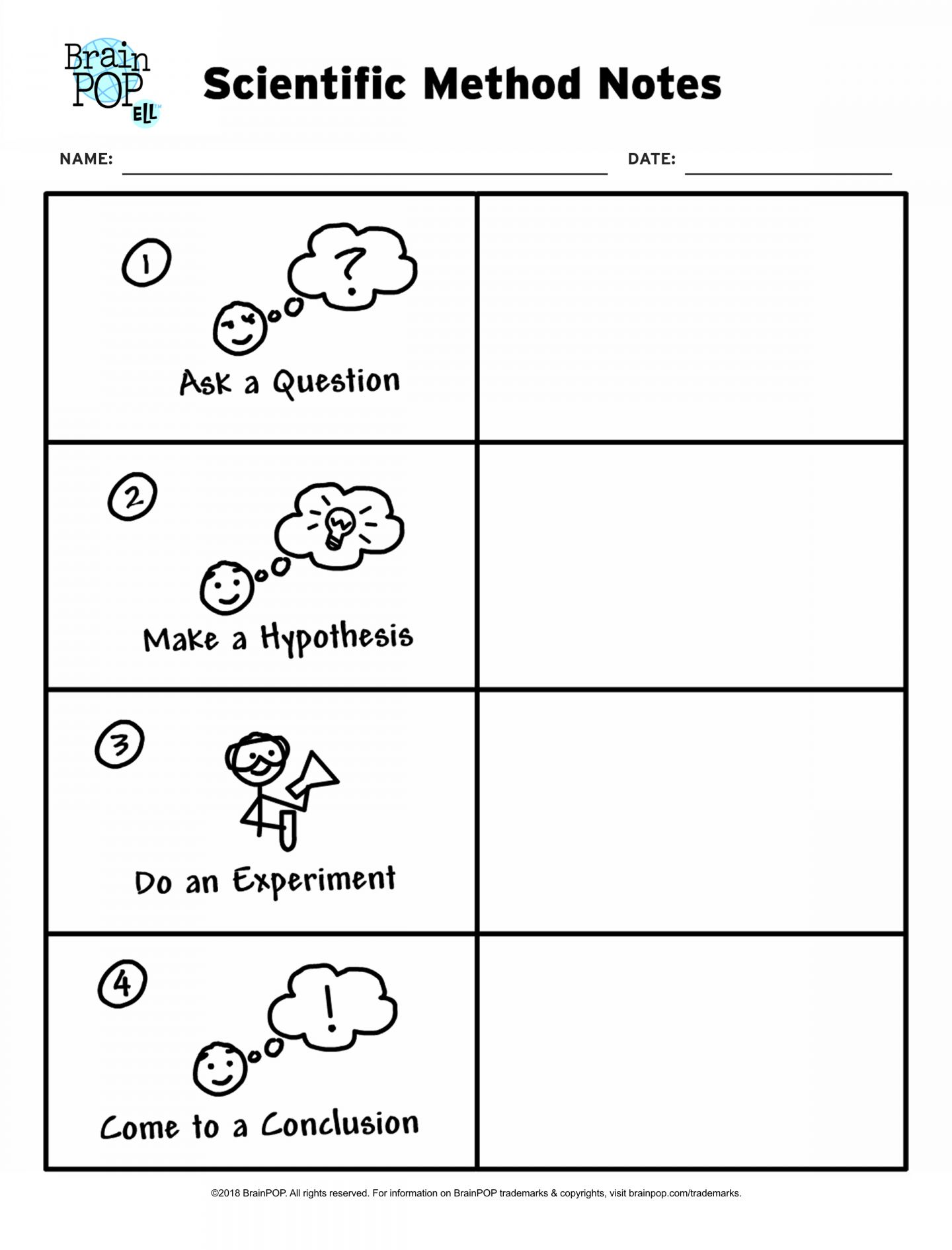 11 Science Experiment Hypothesis Worksheet Kinder
