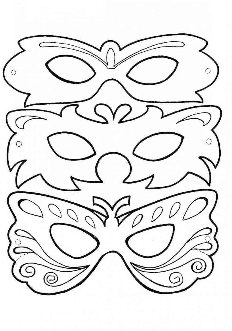 Fasching Basteln Vorlagen fasching 12 ausmalbilder fastnacht masken