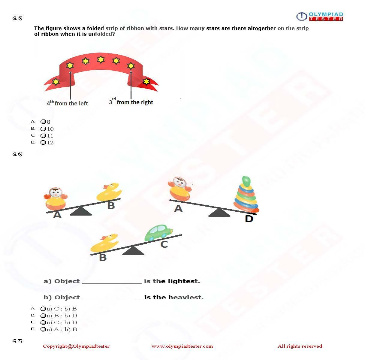 Download Class 1 Maths Olympiad Worksheets To Prepare