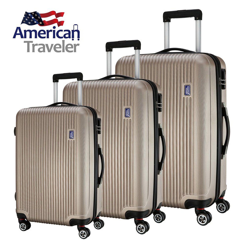 American Traveler Lightweight Anti-scratch 3 Pcs Luggage Set ...