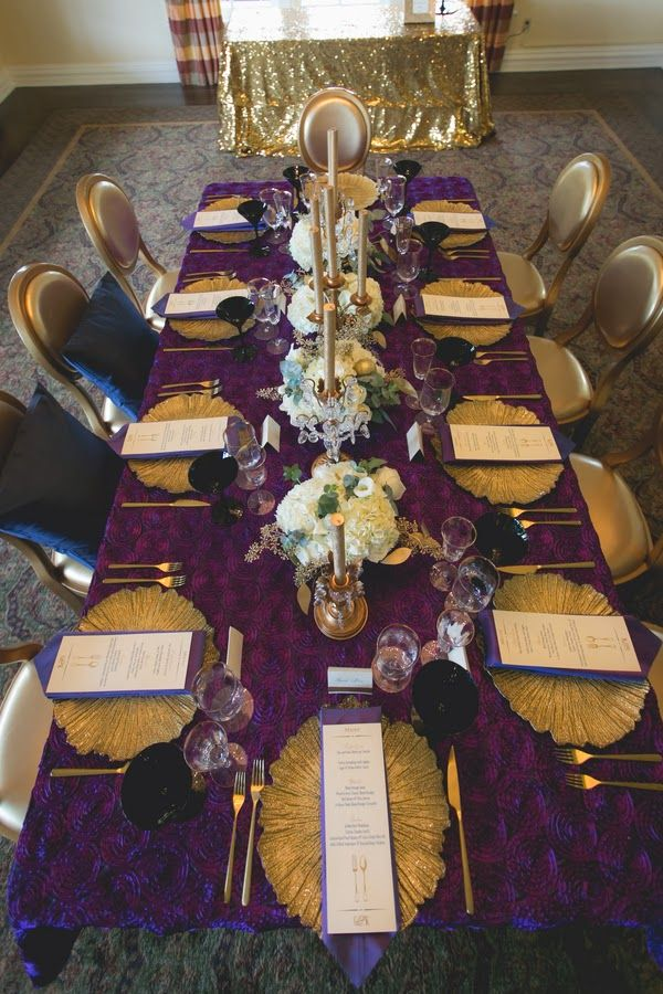 Violet & Gold Wedding | The Frosted Petticoat
