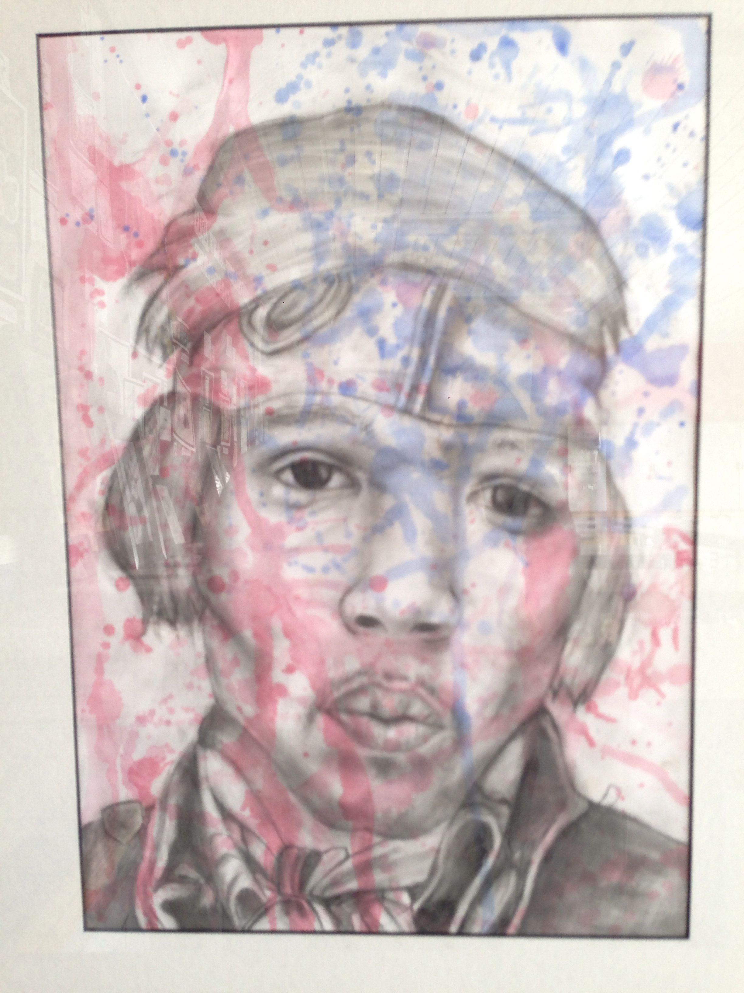Year 10 RBA entry 2014, selected for exhibition. Pencil and watercolour.
