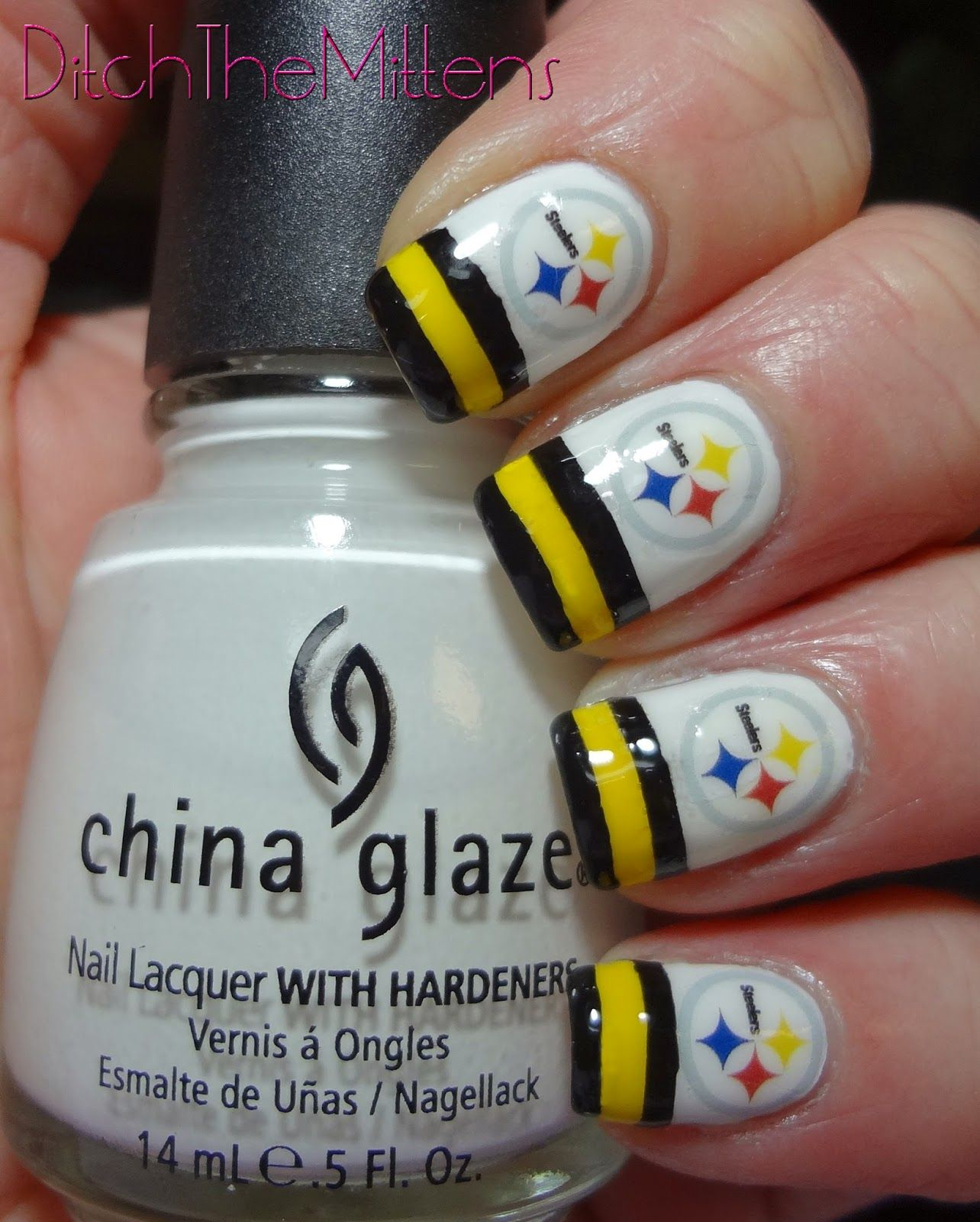 Ditch the mittens pittsburgh steelers nail nails nailart ditch the mittens pittsburgh steelers nail nails nailart more prinsesfo Choice Image