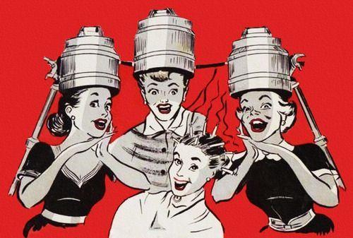 What Is A Wet Set Vintage Current Vintage Hair Salons Retro Salon Vintage Hairstyles