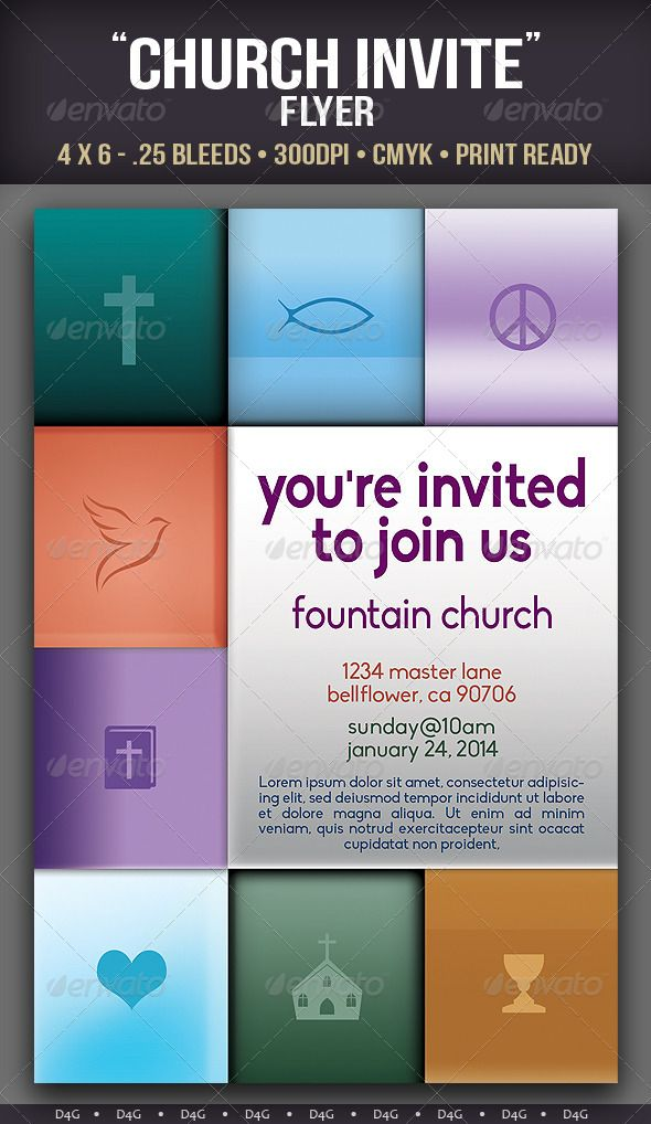 YouRe Invited Church Flyer Template  Flyer Template Template