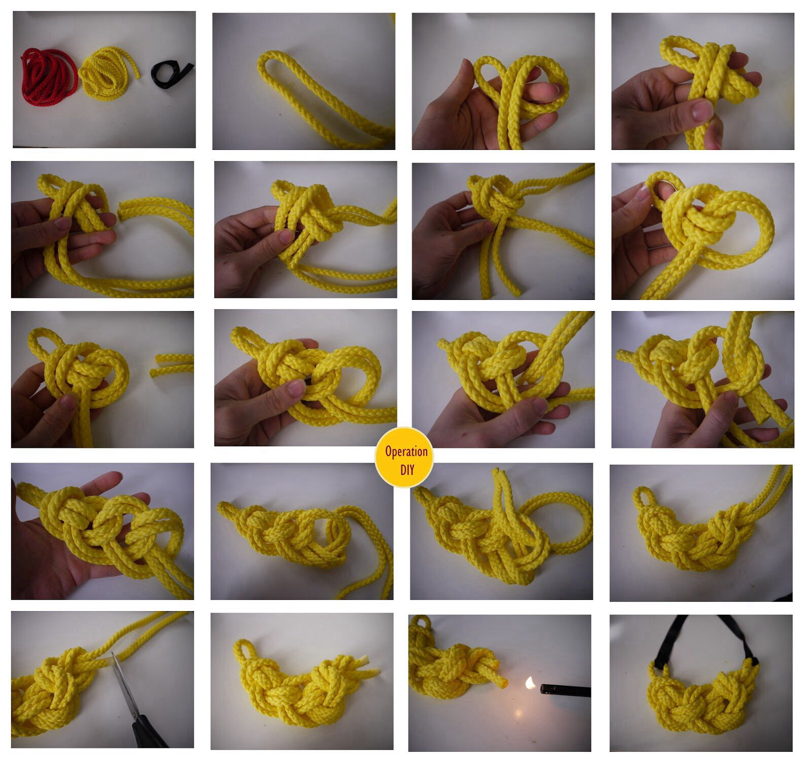 Diy rope necklace tutorials rope knots necklace tutorial and diy rope necklace tutorials solutioingenieria Image collections