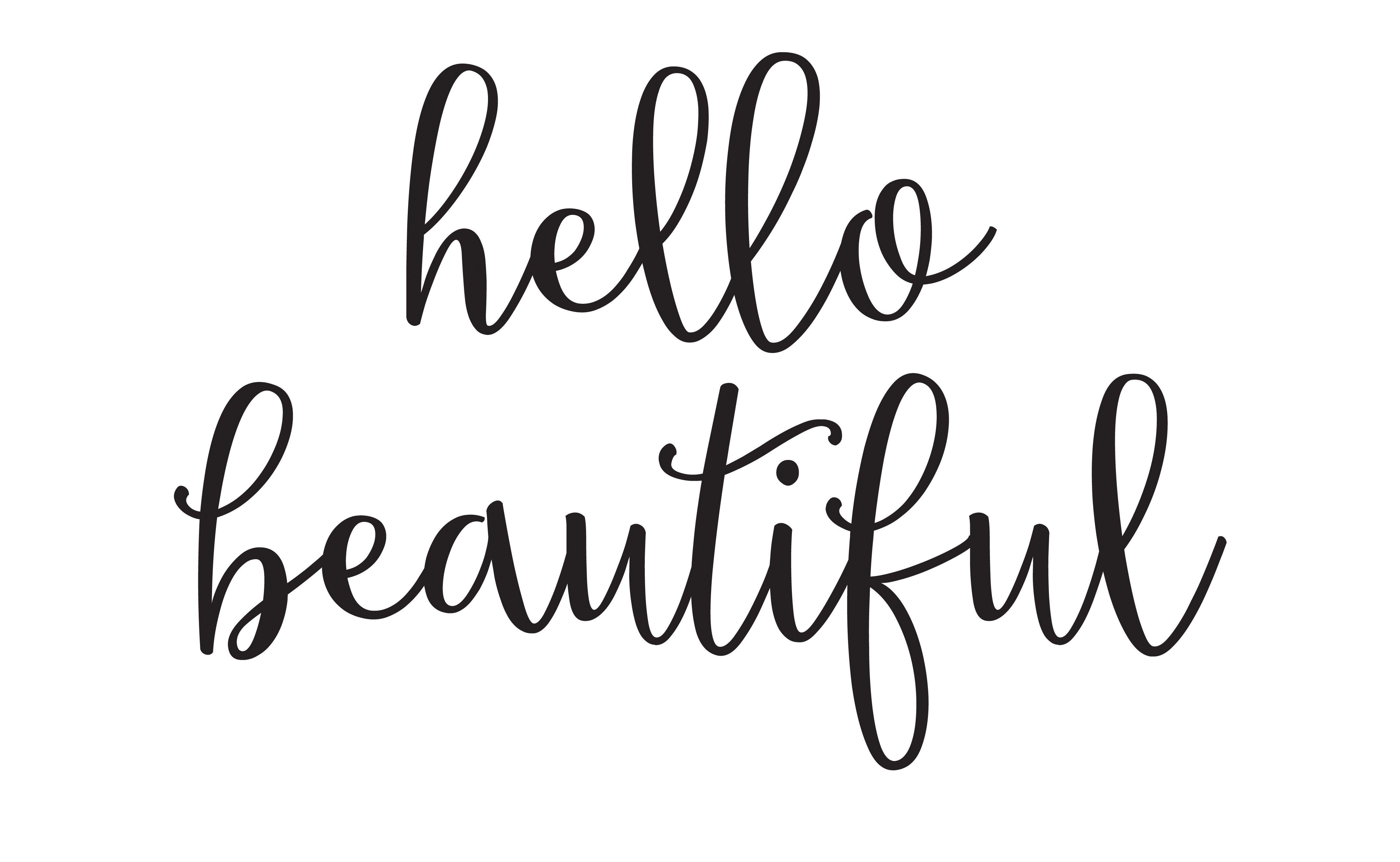 Hello Beautiful – Free Printable