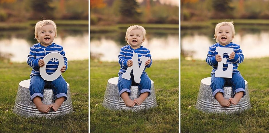 First Birthday Poses Outdoors By Lake Pond One Letters First Birthday Photographer Buffalo