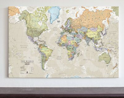 Canvas classic world map large wm1234 maps international canvas classic world map large wm1234 maps international gumiabroncs Gallery