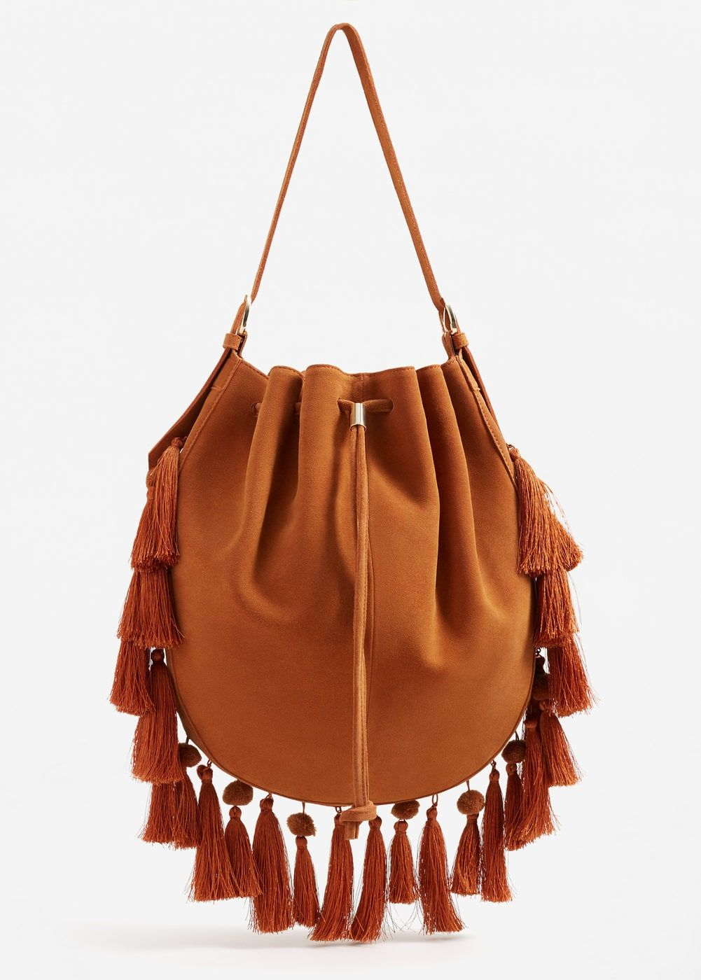 Tassels leather bag – Women