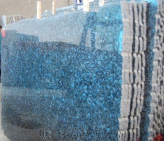 Royal Blue Pearl Slabs Granite From India Stonecontact Com Blue Granite Blue Pearl Granite Granite