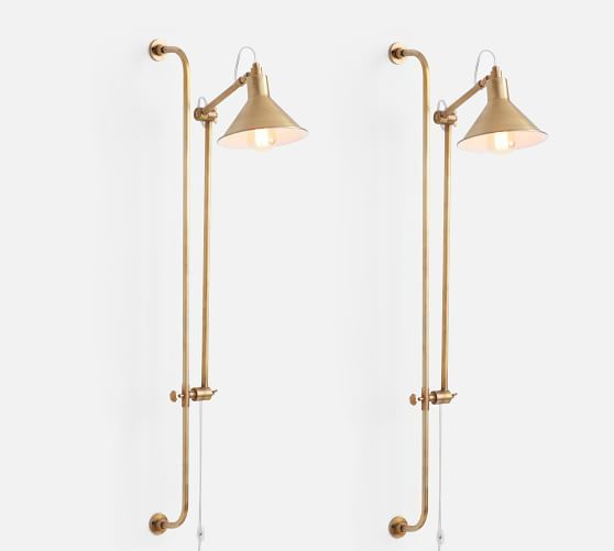 Leighton Adjustable Wall Sconce Potterybarn In 2019