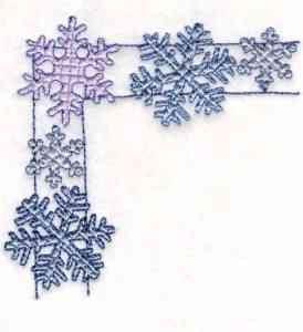 Free Embroidery Design: Snowflake Border