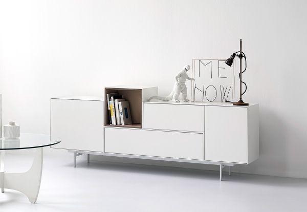 Modular Möbel modulare möbel piure sideboard weiß fußgestell matt möbel
