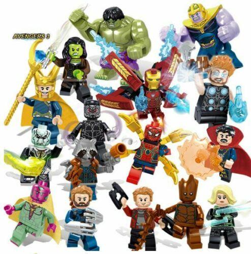 16pcs Marvel Super Heroes Lego Avengers Infinity War Mini Figures Man Hulk Set Iron Man Avengers Thanos Iron Man Lego Marvel Super Heroes