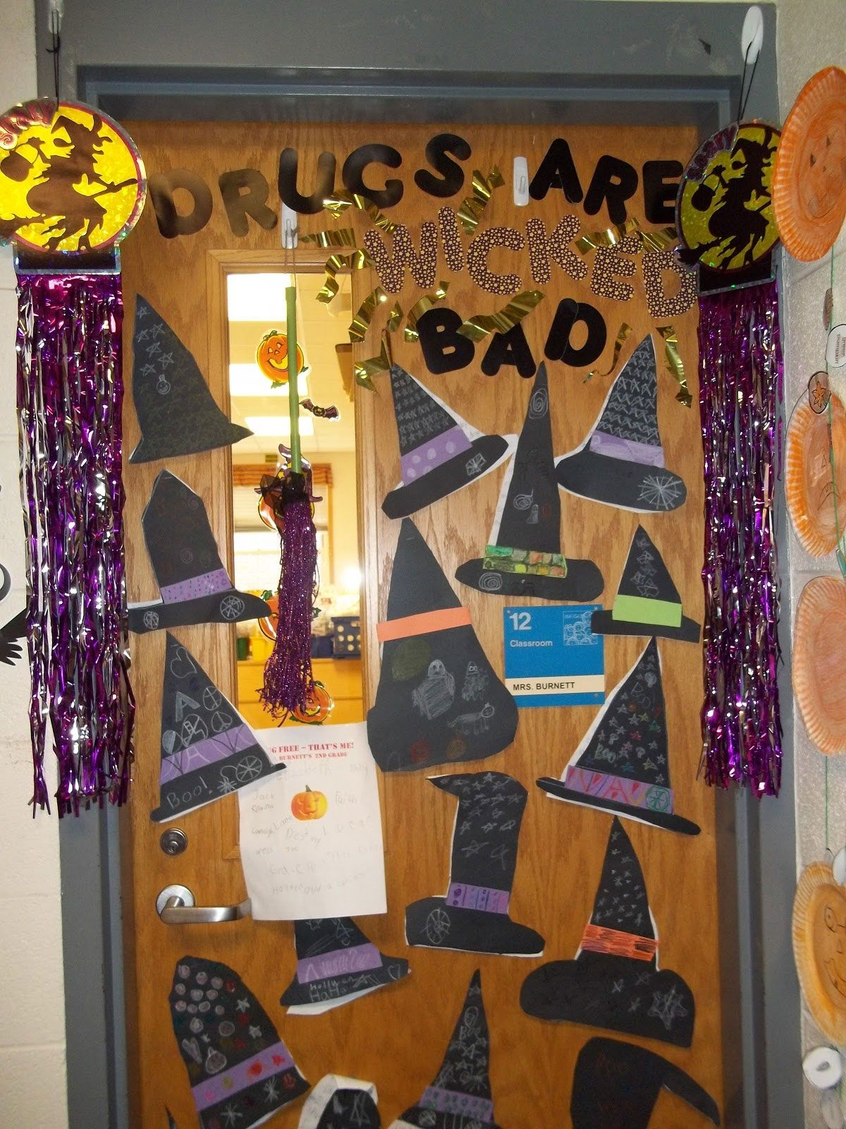 Red Ribbon Door Decorating Ideas Lets Celebrate Drugs Free Day