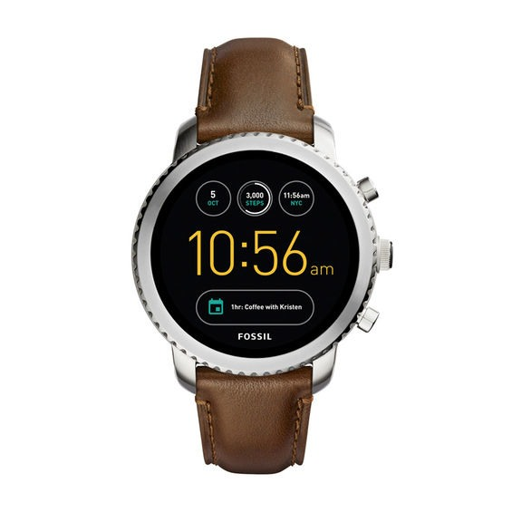Fossil Q Explorist Gen 3 Strap Smart Watch With Black Dial Model Ftw4003 Smart Watch Watches For Men Fossil Watches For Men