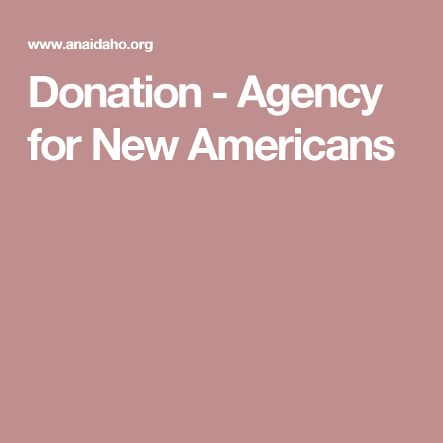 Donation - Agency for New Americans