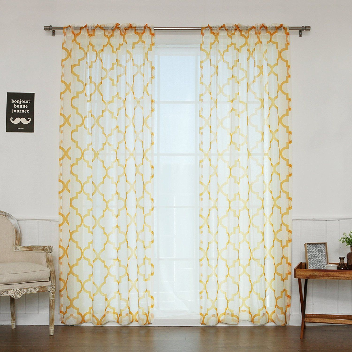 Beautiful Yellow Mustard Curtains Sale | Curtains, Printed ...