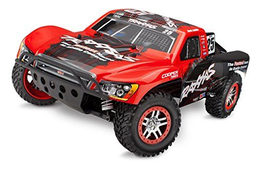 Traxxas 68086 Slash 4X4 4WD Electric Short Course Truck Ready-To-Race Trucks (1/10 Scale), Colors May Vary