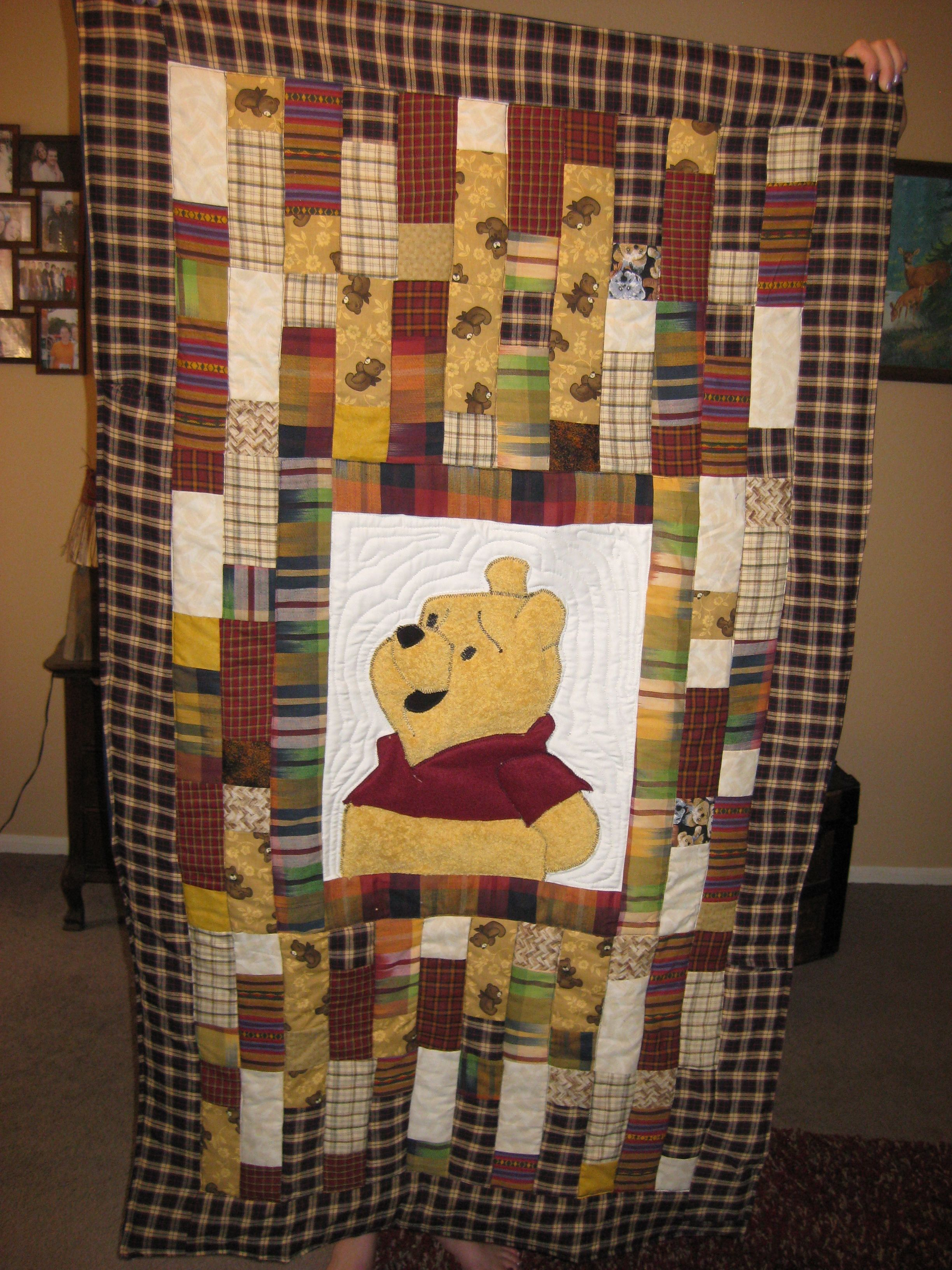 I Made This Winnie The Pooh Quilt Love The Colors