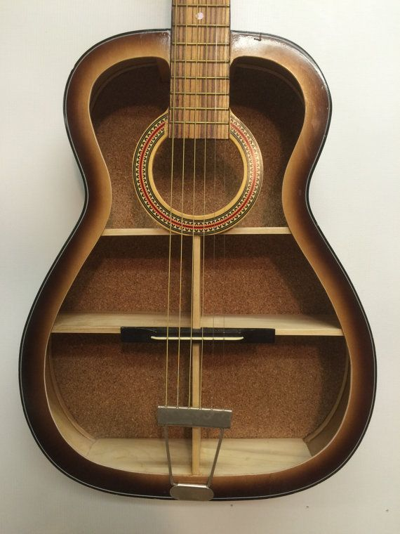 Guitar Shelf 31 Re Purposed Acoustic Guitar With By