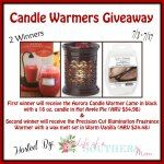 Candle Warmers Giveaway ($80 value) 2 Winners - Ends 7/17   ...  Find this and more awesome giveaways on PaulaMS' Giveaway Grab Bag, Linky  #ShareSwapHop
