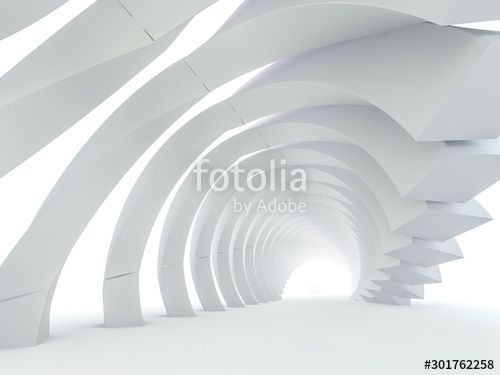 Abstract modern architecture background 3D