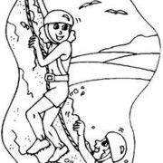 Sport Climbing Coloring Pages