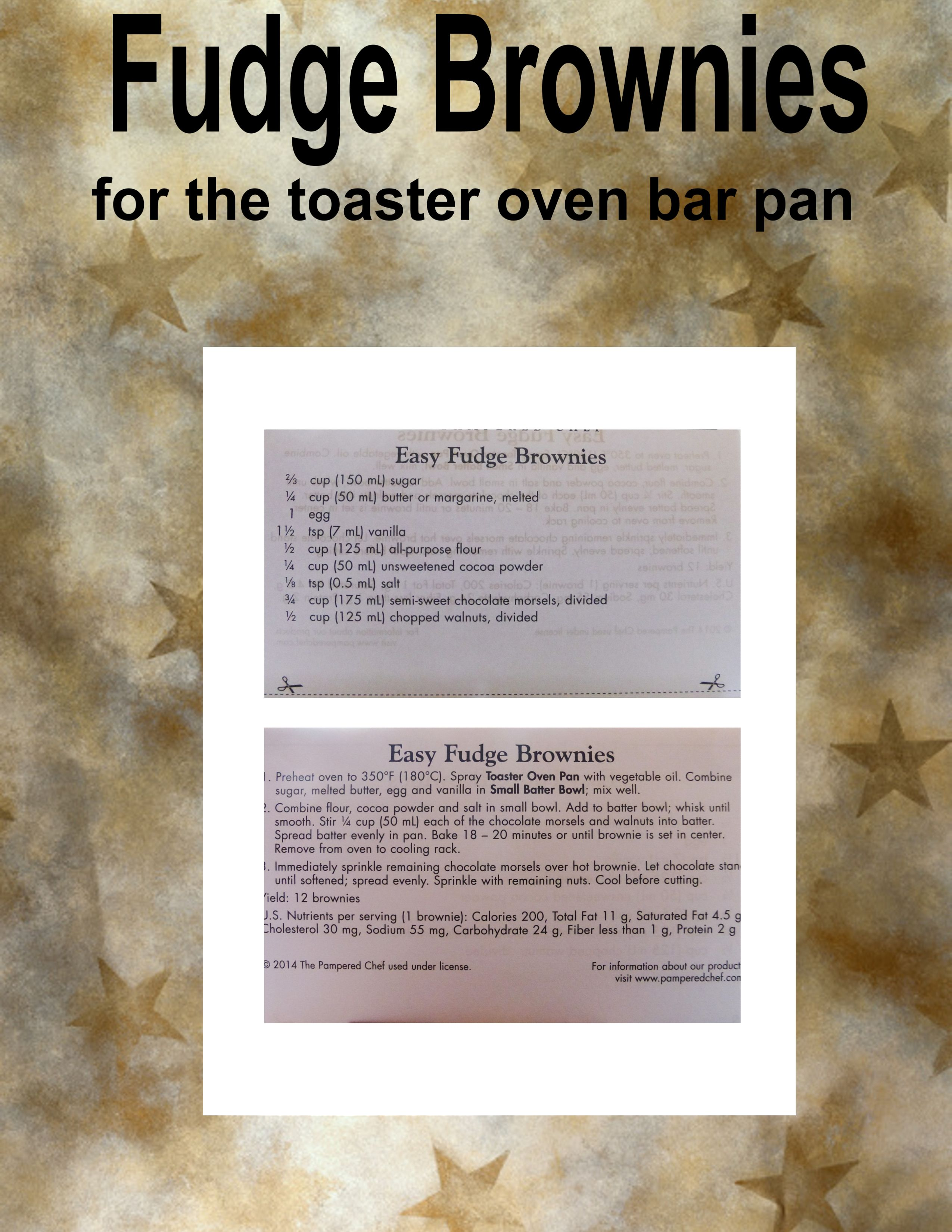 Fudge Brownies For The Toaster Oven Bar Pan Toaster Oven Recipes