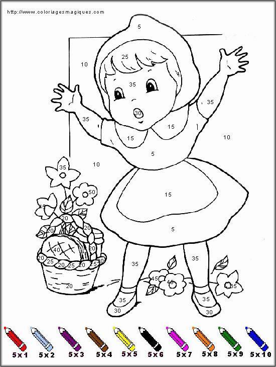 Coloriages magiques du petit chaperon rouge capuchinho - Dessin petit chaperon rouge ...