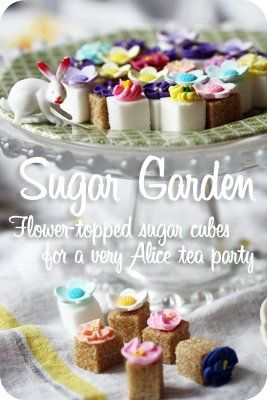 flower sugar cubes