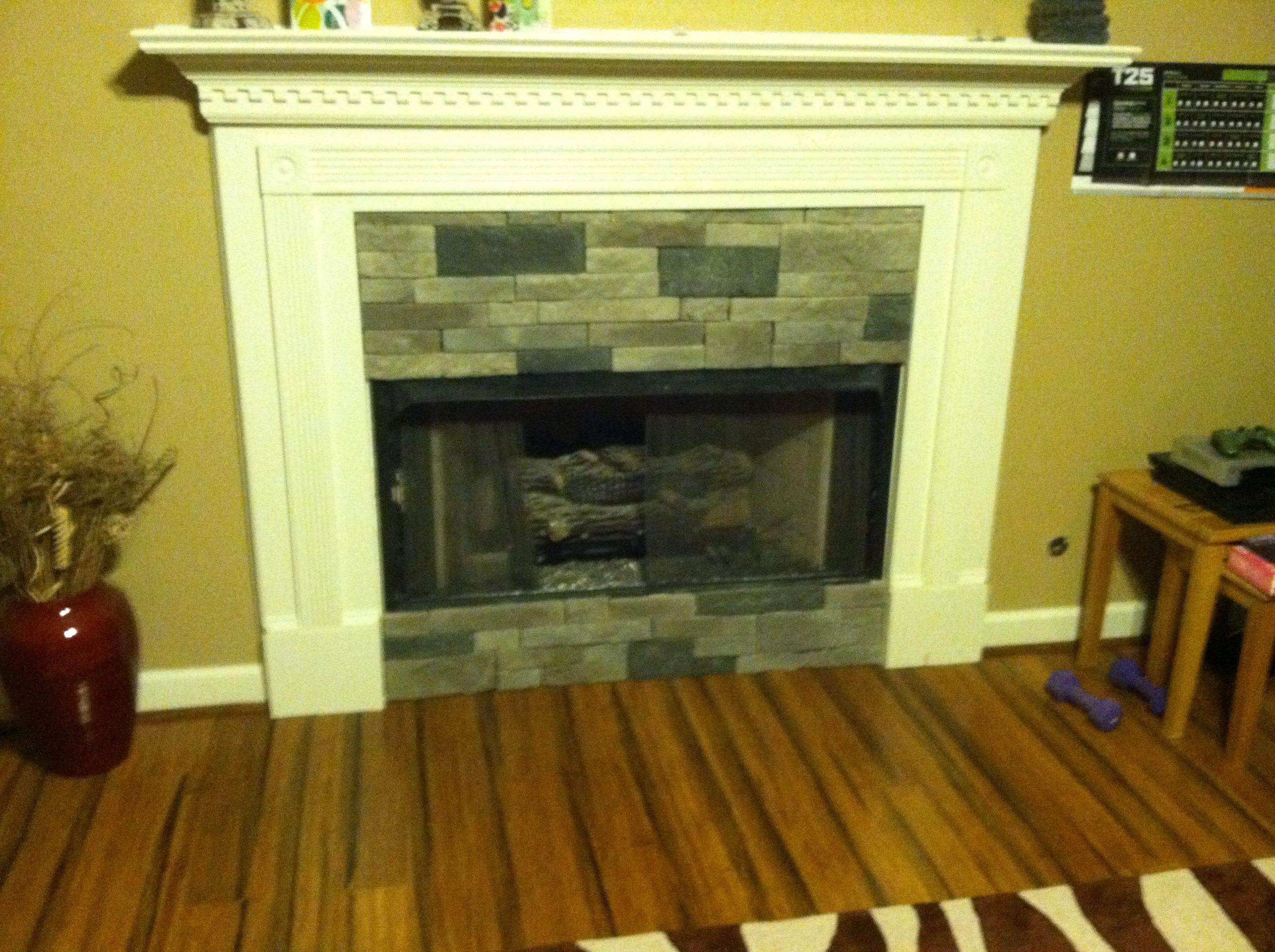 Airstone installation on fireplace honeydo handyman services csra