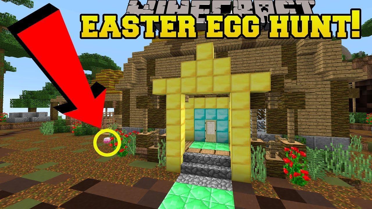 Minecraft Easter Egg Hunt Custom Map Easter Egg Hunt Minecraft Easter Eggs Easter Eggs