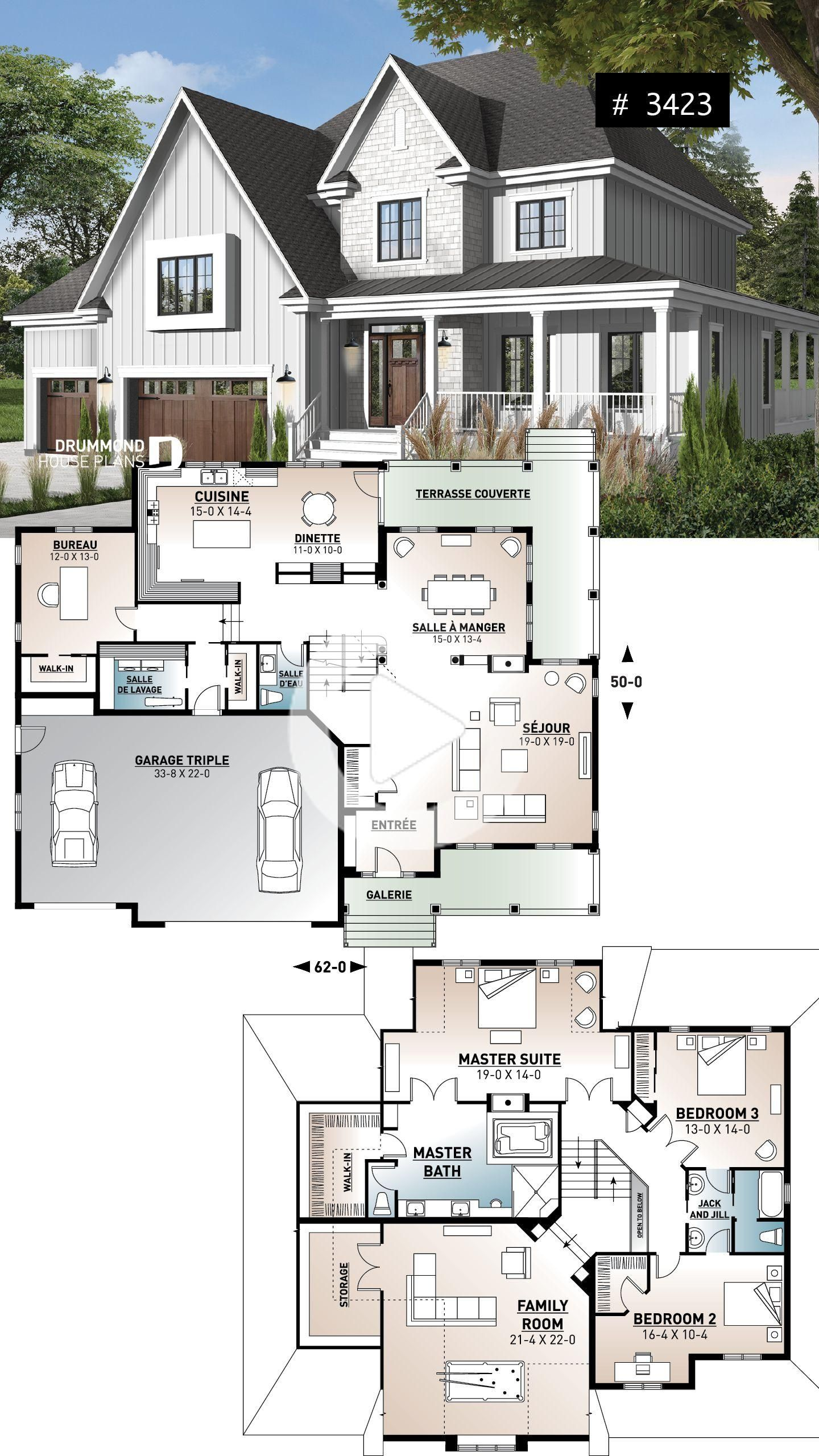 House Design 10x13 With 3 Bedrooms Full Plans House Plans 3d In 2020 House Construction Plan Small House Design Plans Bungalow House Design