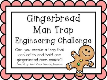 Lamington Man/Gingerbread Man Trap: Engineering Challenge Project ~ Great STEM Activity!  FREEBIE!