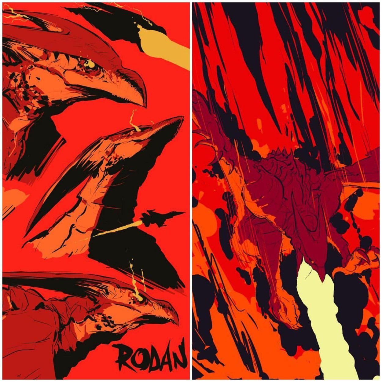 Godzilla 2 Imax Poster Textless: S181118 KOTM Aka Godzilla T